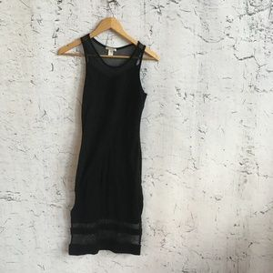 BOZZOLO BLACK MESH DRESS L